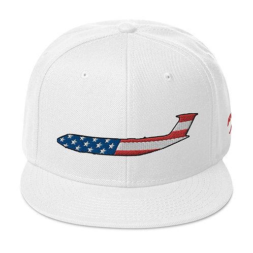 C-5 GALAXY USA SIDE PROFILE Snapback Hat
