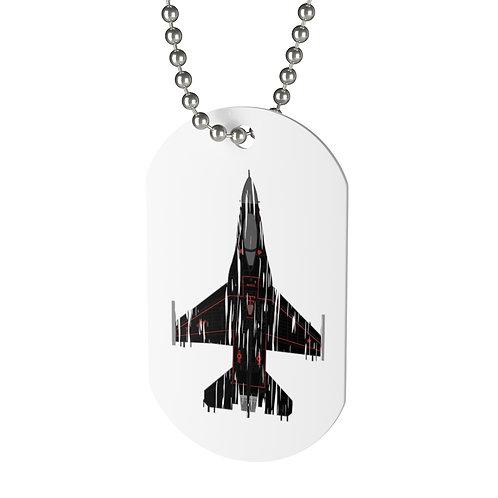 SHREDDED F-16C WRAITH AGGRESSOR Dog Tag