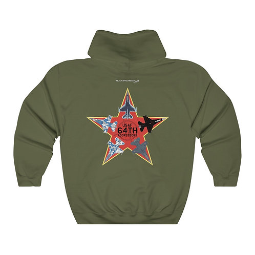 UNOFFICIAL 64TH AGGRESSORS F-16 RED STAR F/B PRINT Unisex Heavy Blend Hoodie
