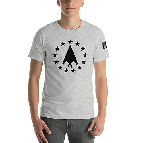 F-117 FREEDOM STARS BLACK PRINT Lightweight T-shirt