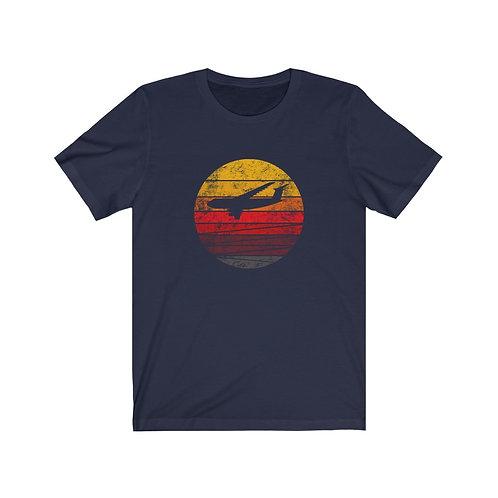 C-5 DISTRESSED RETRO SUNSET Unisex T-Shirt