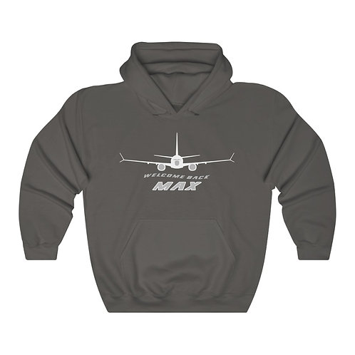 737 MAX WELCOME BACK MAX Unisex Heavy Blend Hoodie