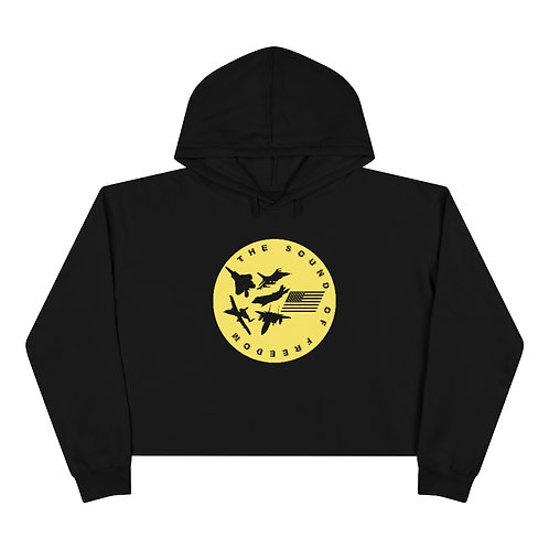 USAF FIGHTER & ATTACK THE SOUND OF FREEDOM Crop Hoodie