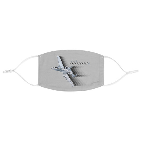 A-10 THUNDERBOLT II FULL SEND Fabric Face Mask
