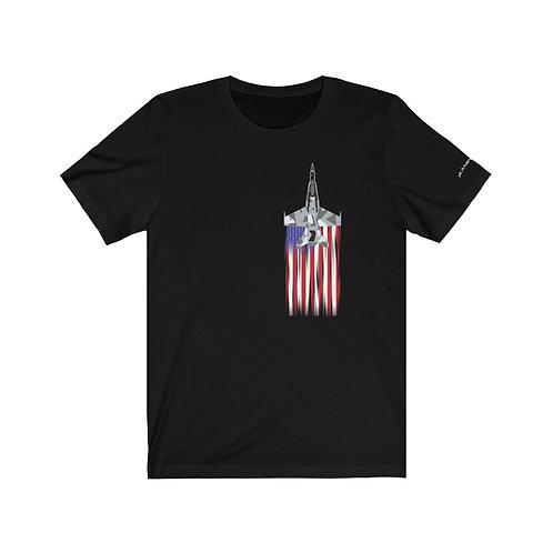 F/A-18A SPLINTER AGGRESSOR US FLAG FULL SEND Unisex T-Shirt