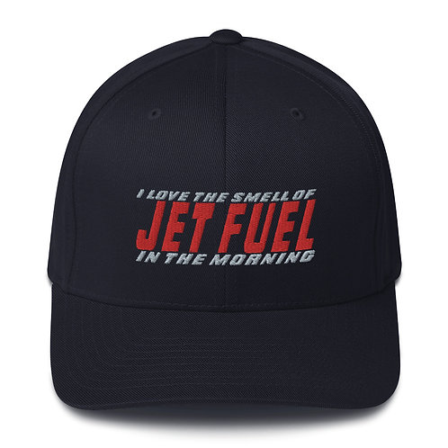 I LOVE THE SMELL OF JET FUEL IN THE MORNING FLEXFIT HAT