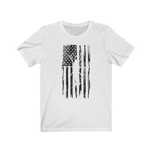 DISTRESSED BLACK PRINT CH-53 US FLAG Lightweight T-shirt