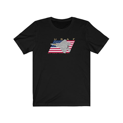 F-22 USAF WE OWN THE SKY FRONT PRINT Unisex Short Sleeve T-Shirt