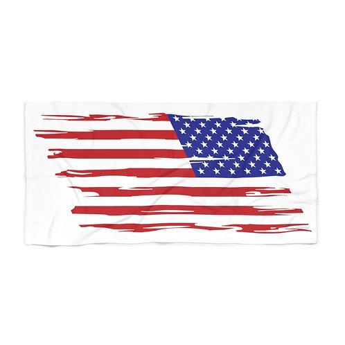 HUGE 3X6 LEFT FACING OR VERTICAL US FLAG Beach Towel