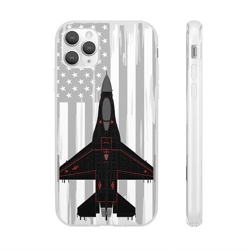 F-16C WRAITH AGGRESSOR USA Flexi Phone Case