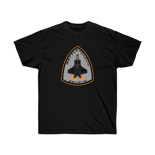F-35 BATTLE PENGUIN BELIEVE BADGE OF HONOR Heavyweight T-shirt