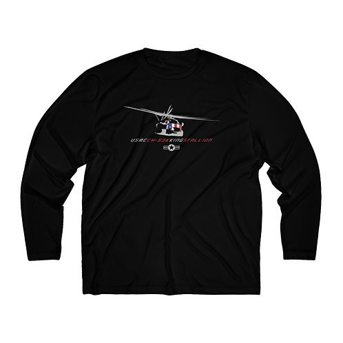 USMC CH-53K KING STALLION Men's Long Sleeve Sport Tee