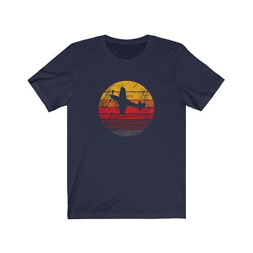 P-51 DISTRESSED RETRO SUNSET Unisex T-Shirt