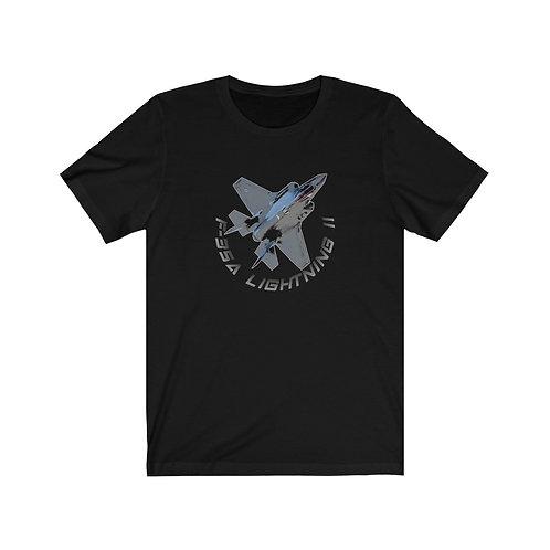 USAF F-35A LIGHTNING II Unisex Short Sleeve T-Shirt