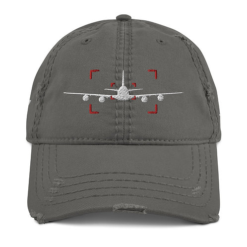 LOCKED ON 747 AVIATION PHOTOGRAPHY Distressed Dad Hat