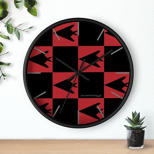 F-117 NIGHTHAWK CHECKERBOARD Wall clock