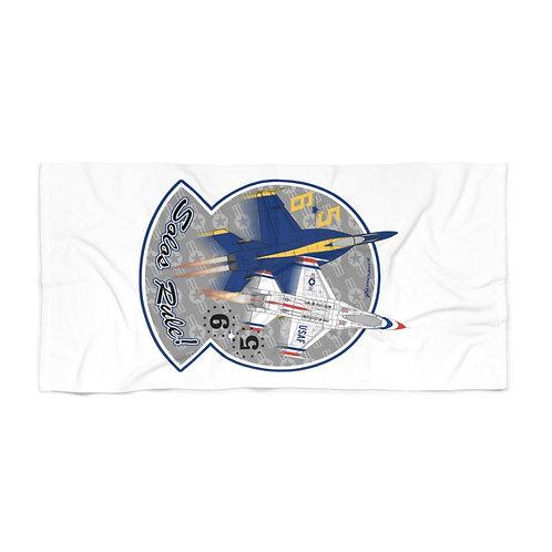 HUGE 3X6 UNOFFICIAL USN BLUE ANGELS USAF THUNDERBIRDS SOLOS RULE! Beach Towel