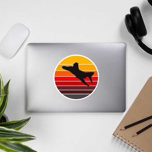 F-4 PHANTOM RETRO SUNSET STICKER