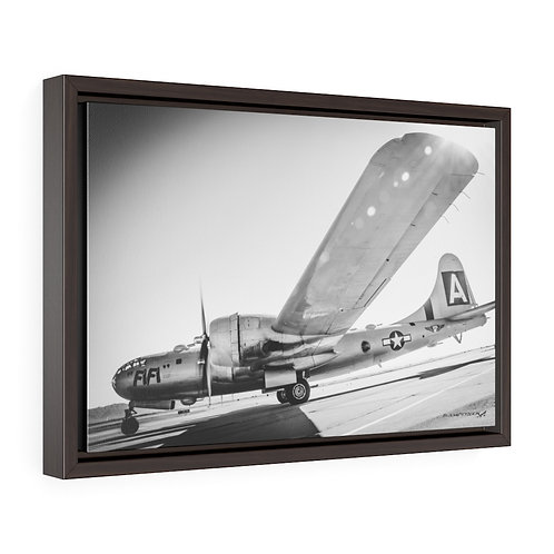 B-29 SUPERFORTRESS FIFI MESA, ARIZONA B&W Framed Premium Gallery Wrap Canvas