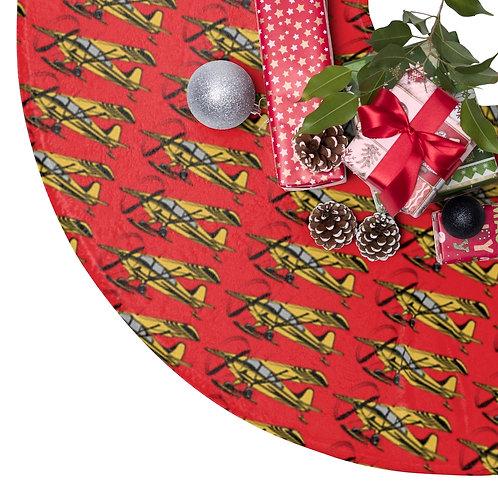 BUSH SKI PLANE Christmas Tree Skirt