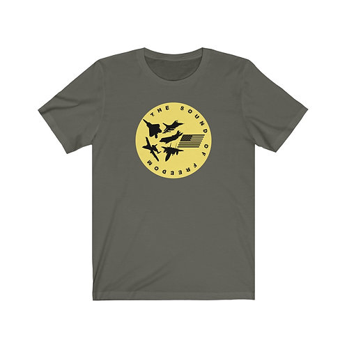 USAF FIGHTER & ATTACK THE SOUND OF FREEDOM Unisex Short Sleeve T-shirt