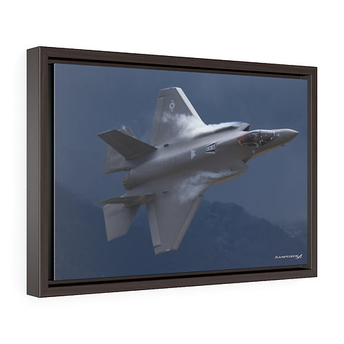 "F-35 LIGHTNING II ""FAST"" Framed Premium Gallery Wrap Canvas"