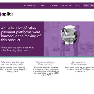 Website: Merchant Landing Page