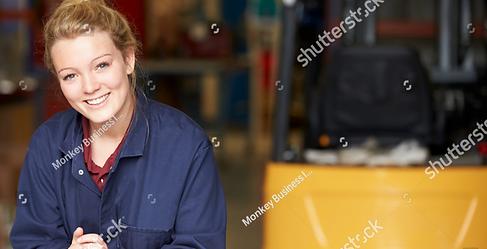 Portrait Of Apprentice Engineer In Facto