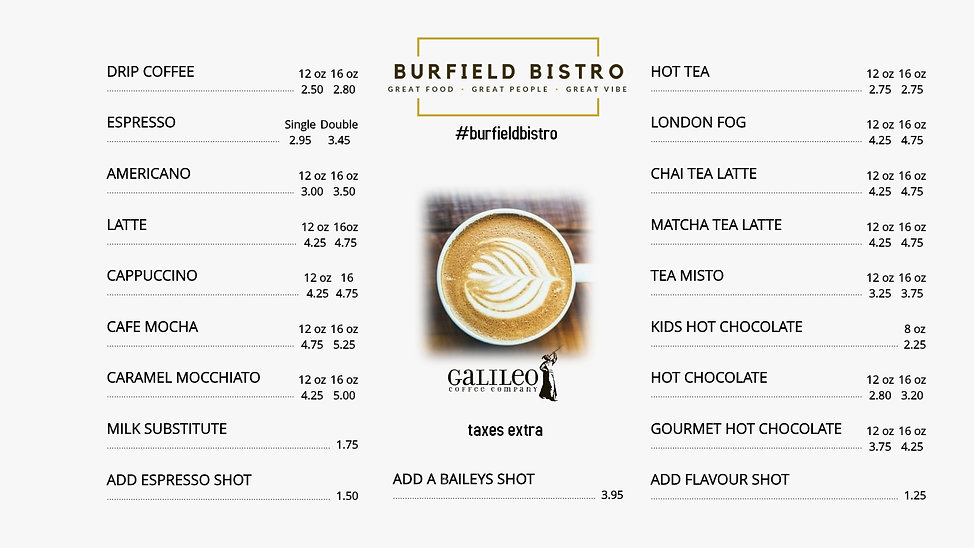 burfield menu - Made with PosterMyWall (