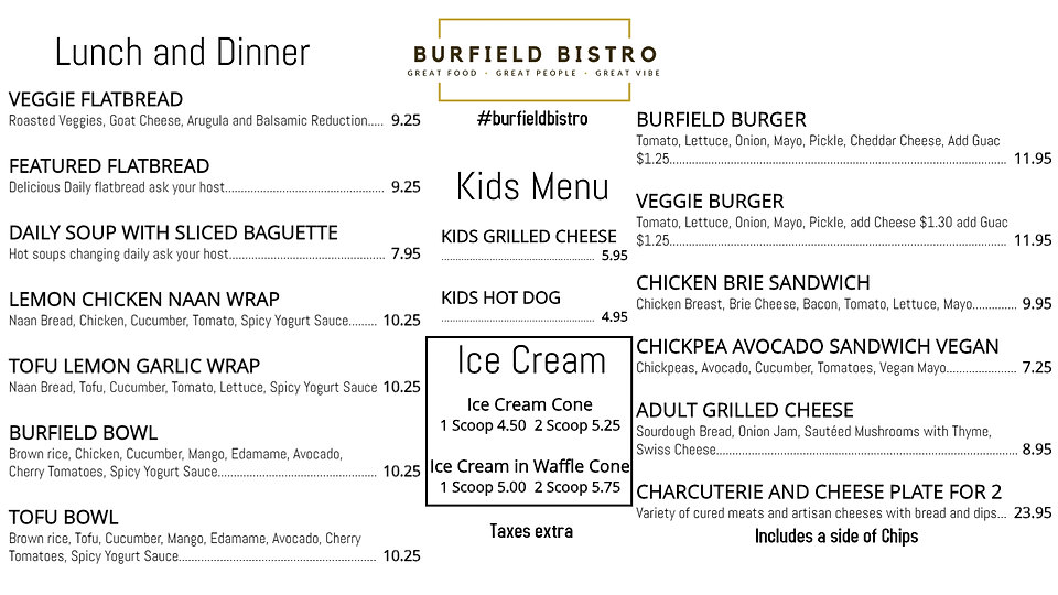 Burfield Bistro Food Menu2 - Made with P
