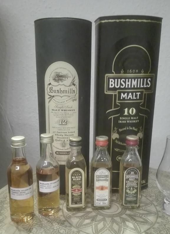 Welcher Bushmills ist der Beste? Bushmills Original, Bushmills Black Bush, Bushmills 10, Bushmills 12, Bushmills 16, Bushmills 21, Bester Whiskey, Tasting, Verkostung, Bushmills Tasting
