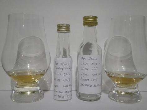 Ben Nevis 7yrs. Signatory Vintage vs. Ben Nevis 27yrs. Glenscoma Tasting