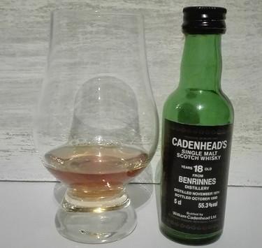 Benrinnes 18yrs. Cadenhead bottled 1990