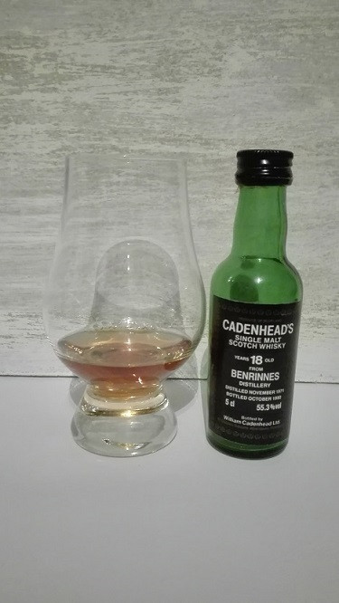 Benrinnes, Cadenhead, 18 years old, 55,3%, 1971, 1990
