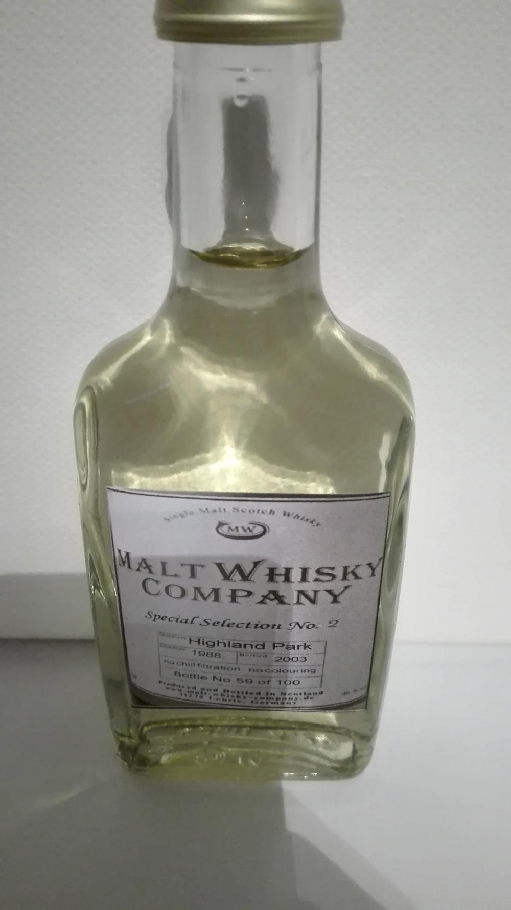 Highland Park 15, Highland Park 1988, 2003, Malt Whisky Company, MWC, Tasting, Test