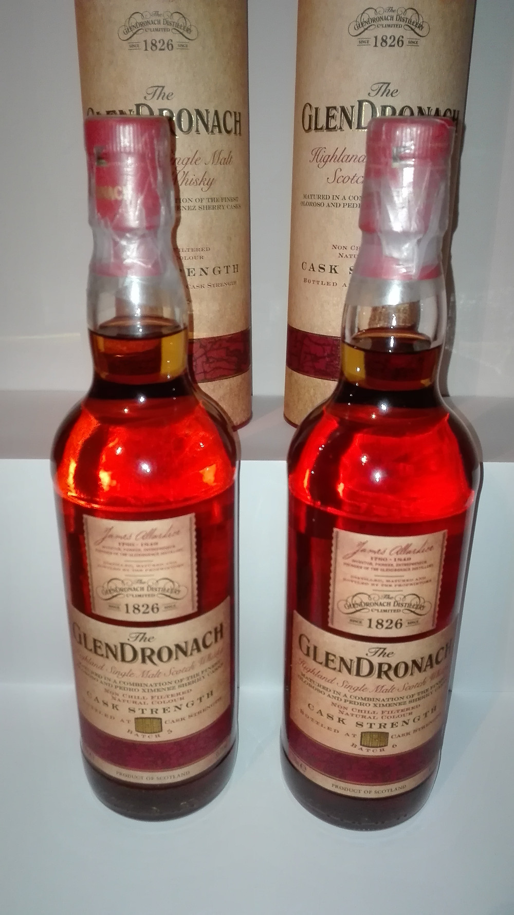 Glendronach, Glendronach 12, Glendronach 18, Allardice, Parliament, Glendronach 21, Glendronach Alter, älter, Produktionspause