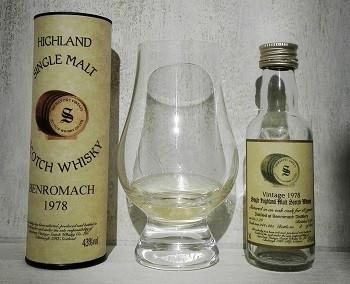 Benromach 1978 Signatory Vintage bottled 1996