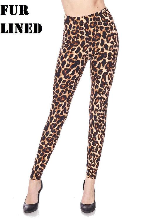 Fur Lined Leggings - L/XL