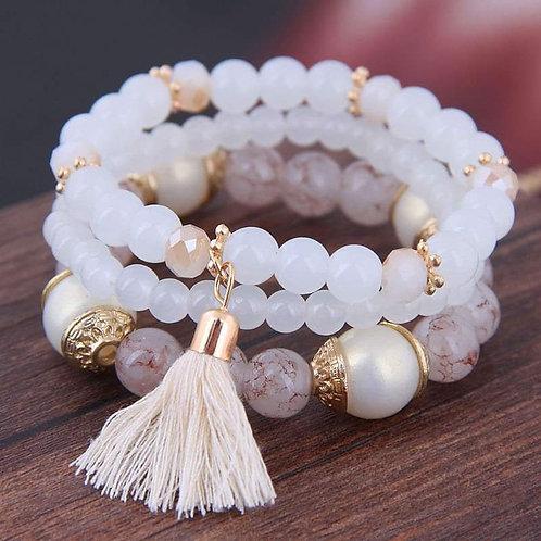 White Bracelet Set