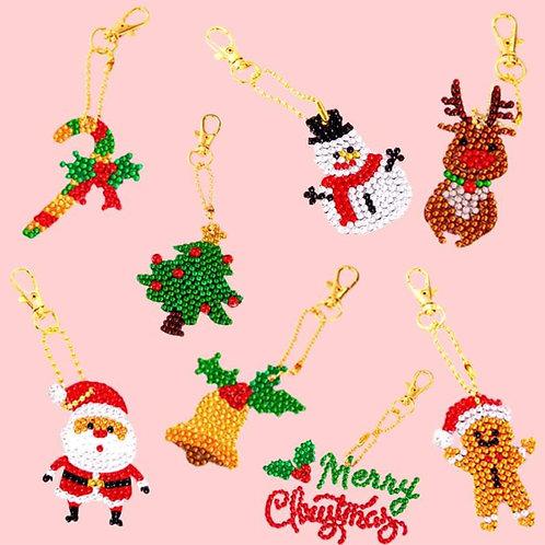 Christmas Diamond Painting Keychains