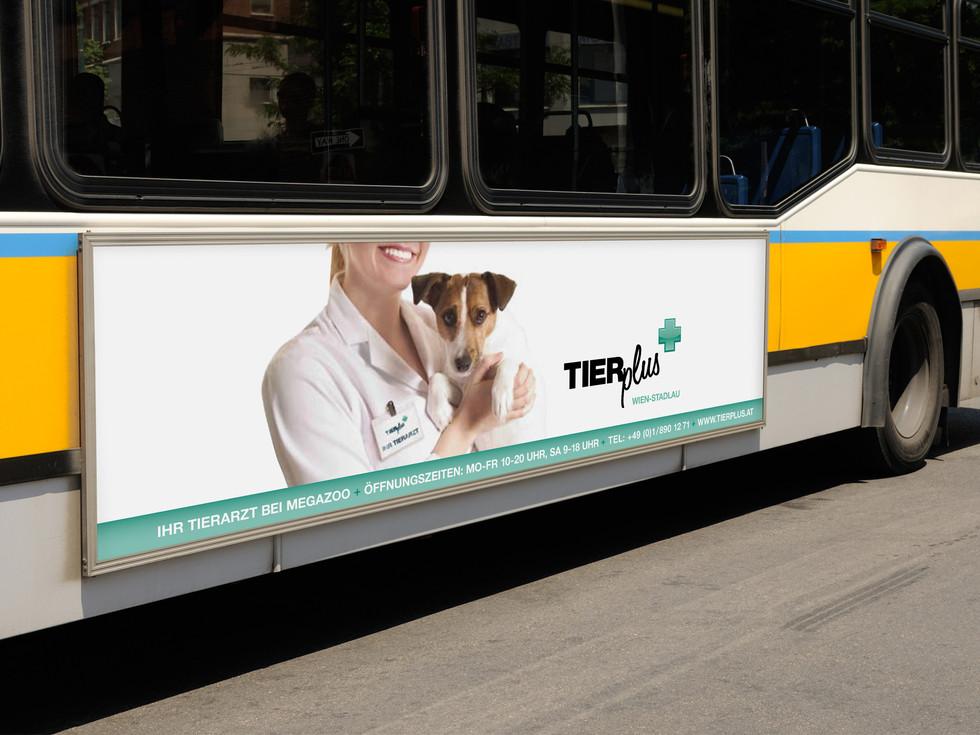 TIERplus Buswerbung