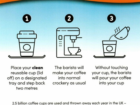PLEASE use your reusable cup with Contactless Coffee