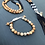 Thumbnail: Onyx, Picture Jasper and Snow Quartz 108 Bead Mala Necklace with Deer Charm