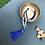 Thumbnail: Aquamarine, Lapis Lazuli, Onyx & Agate 108 Bead Mala Necklace