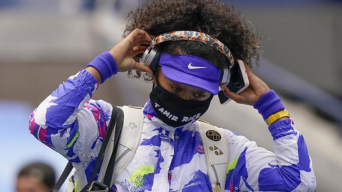 Naomi Osaka wears a mask with victim Tamir Rice's name and wins the US Open finals on Saturday
