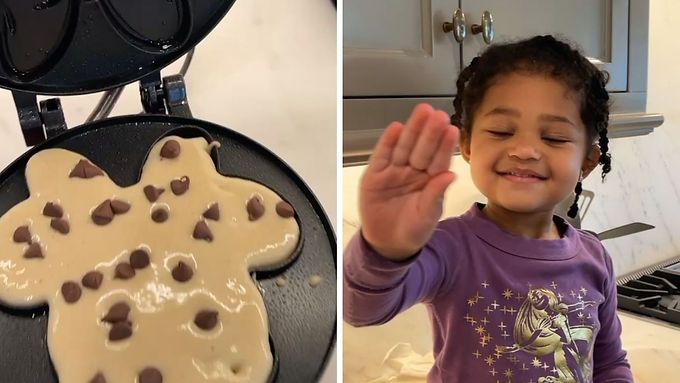 Almost billionaire Kylie Jenner makes pancakes with Stormi