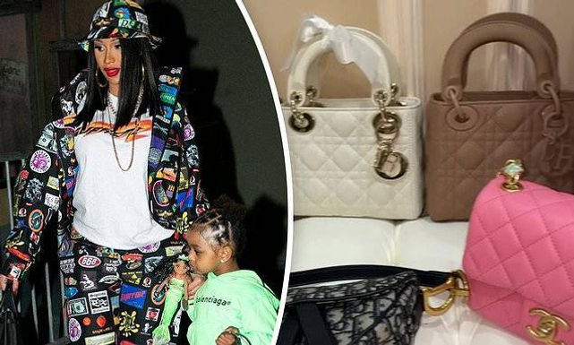 "Cardi B treats daughter Kulture like a doll and tells fans ""God gave me a doll for a reason"""