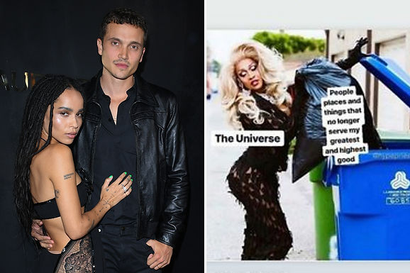 Actress Zoe Kravitz sends cryptic messages after Breakup With Karl Glusman