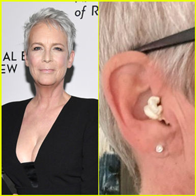 Actress Jamie Lee Curtis mistakes popcorn for ear pods