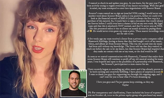 Shamrock faces being a 'casualty' in Swift's battle against Scooter Braun
